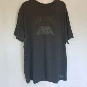 Life is Good Man Cave T Shirt